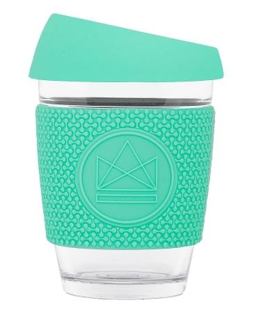 Glass Coffee Cup - Turquoise - 340 ml