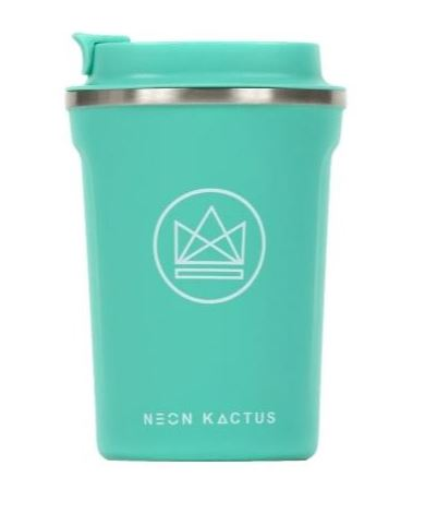 Insulated Coffee Cup - Turquoise - 380 ml