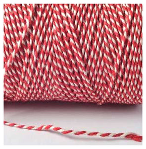 Beautiful Baker's Cotton Twine - Red & White 100M