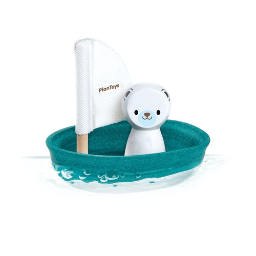 Sailing Boat & Polar Bear Bath Toy