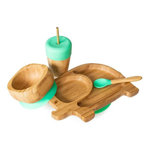 Elephant Bamboo Tableware Set - Green
