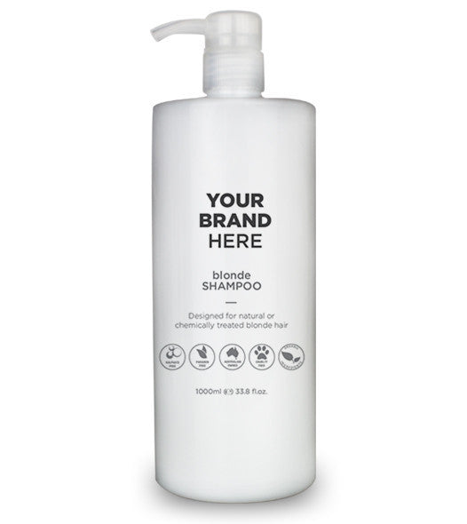 Private Label Blonde Shampoo - White Bottle - 1000ml / 33.8 fl.oz.
