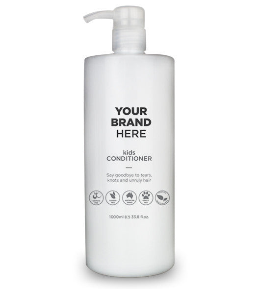 Private Label Kid's Conditioner - White Bottle - 1000ml / 33.8 fl.oz.