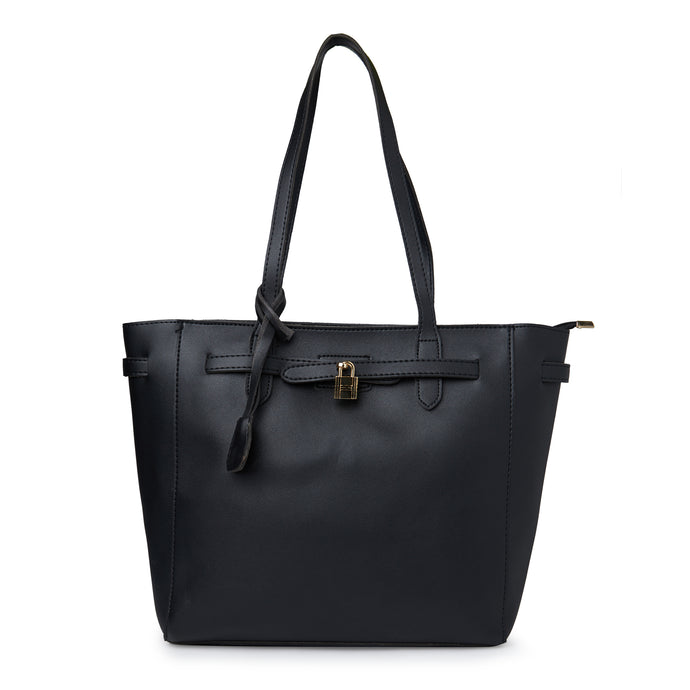 Globus Black Shopper Bag-1
