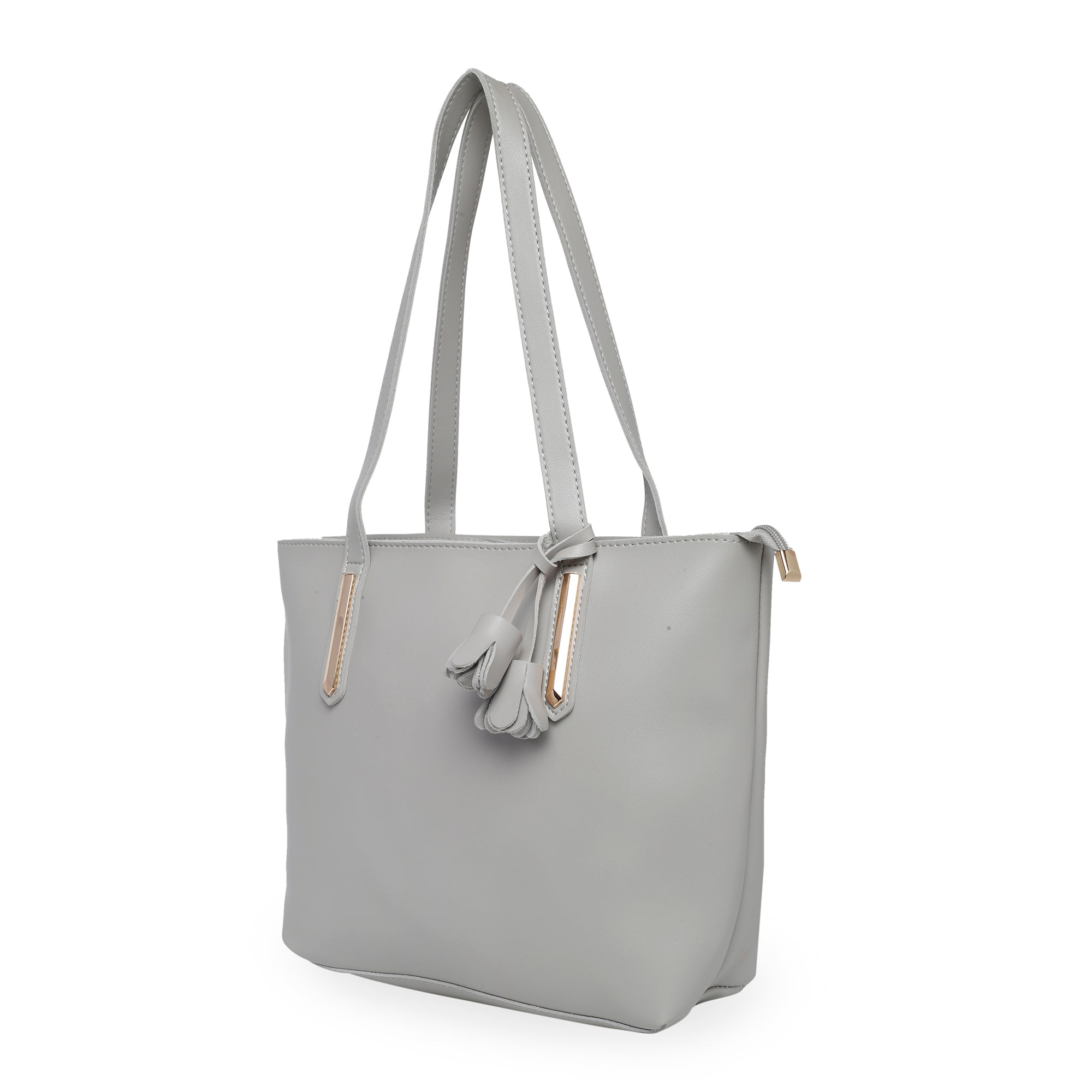 Globus Light Grey Shopper Bag-3