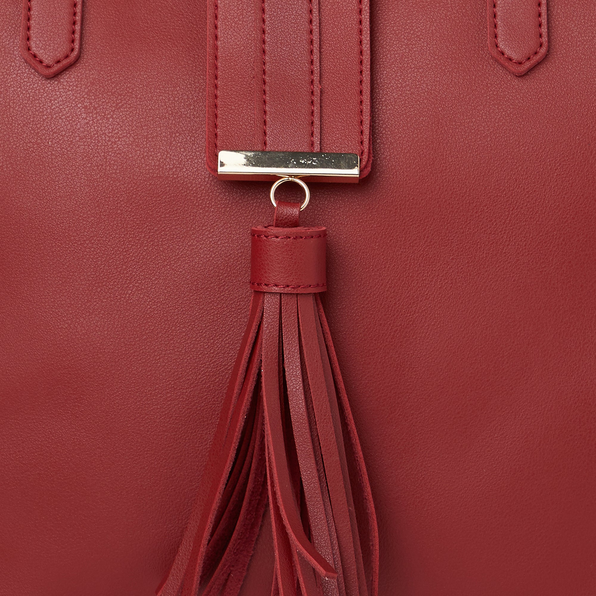 Globus Maroon Shopper Bag-4