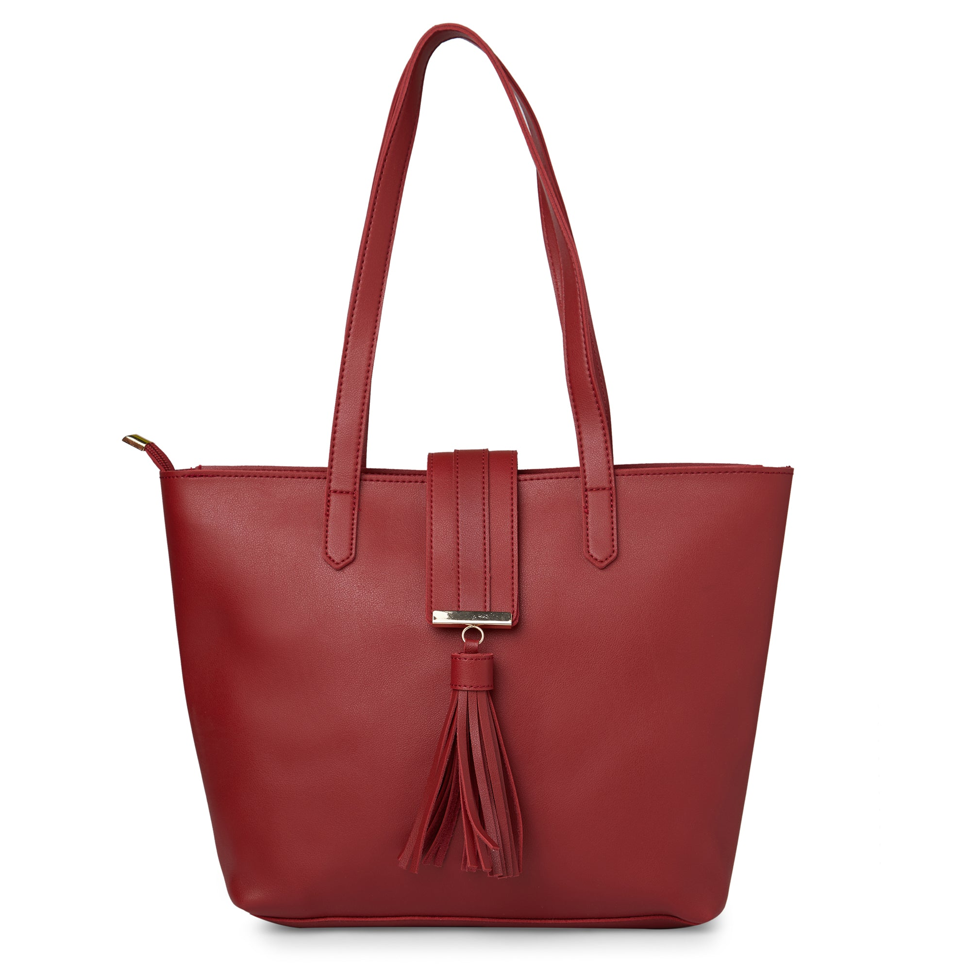 Globus Maroon Shopper Bag-5