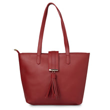 Load image into Gallery viewer, Globus Maroon Shopper Bag-5