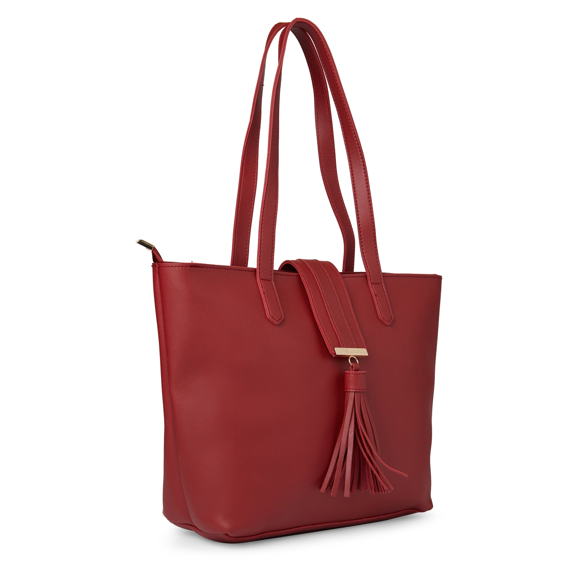 Globus Maroon Shopper Bag-6
