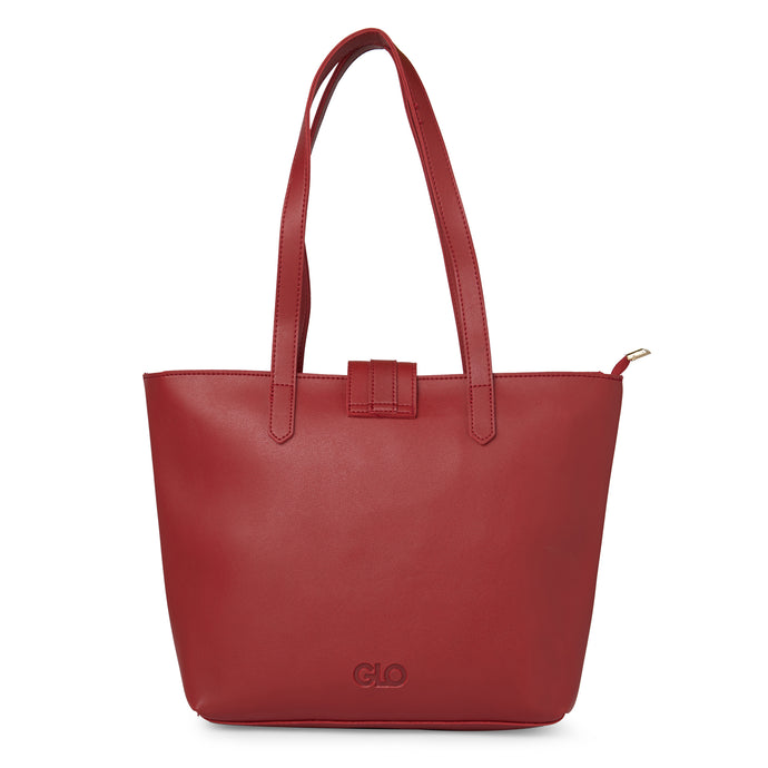 Globus Maroon Shopper Bag-3
