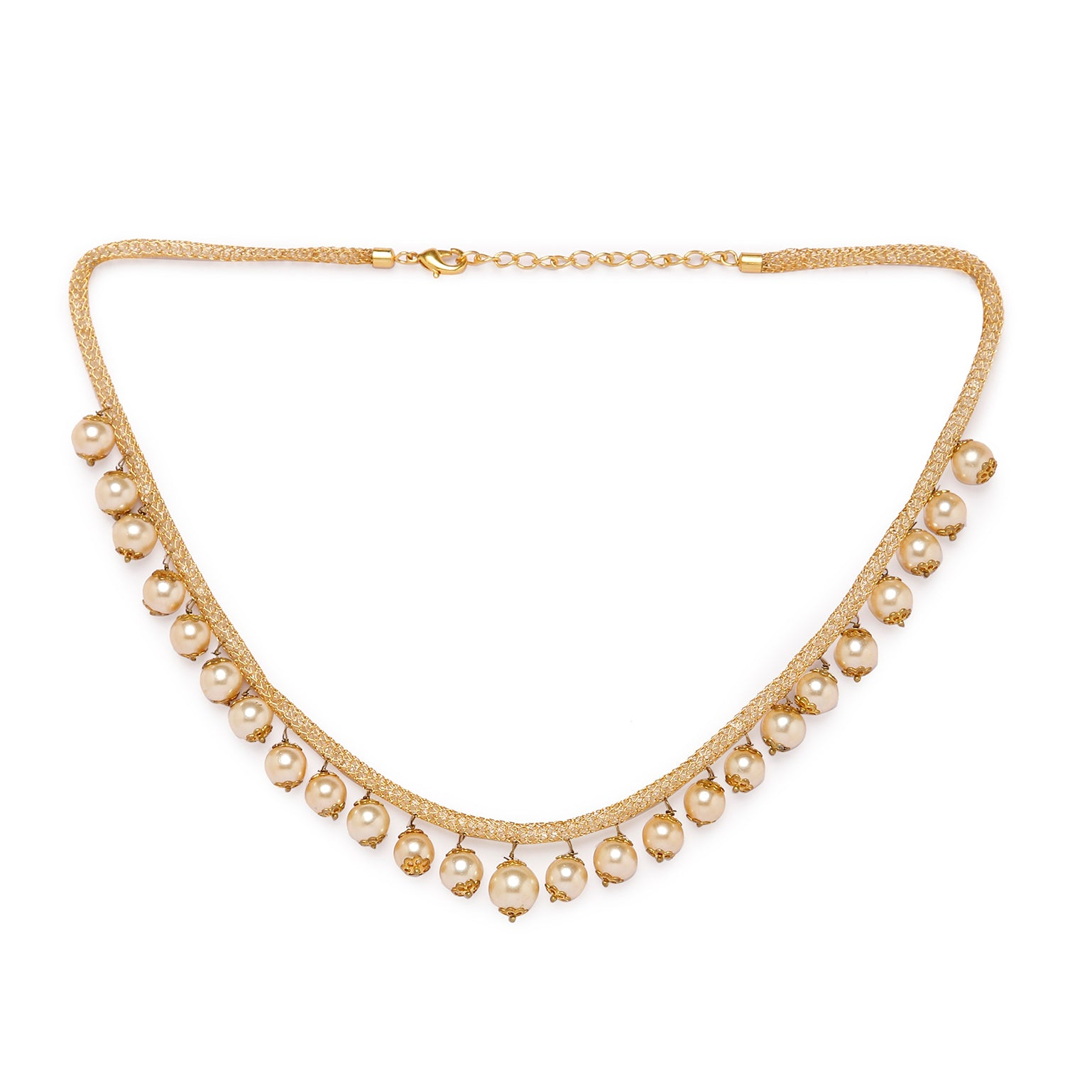Globus Gold Ethnic Necklace-1