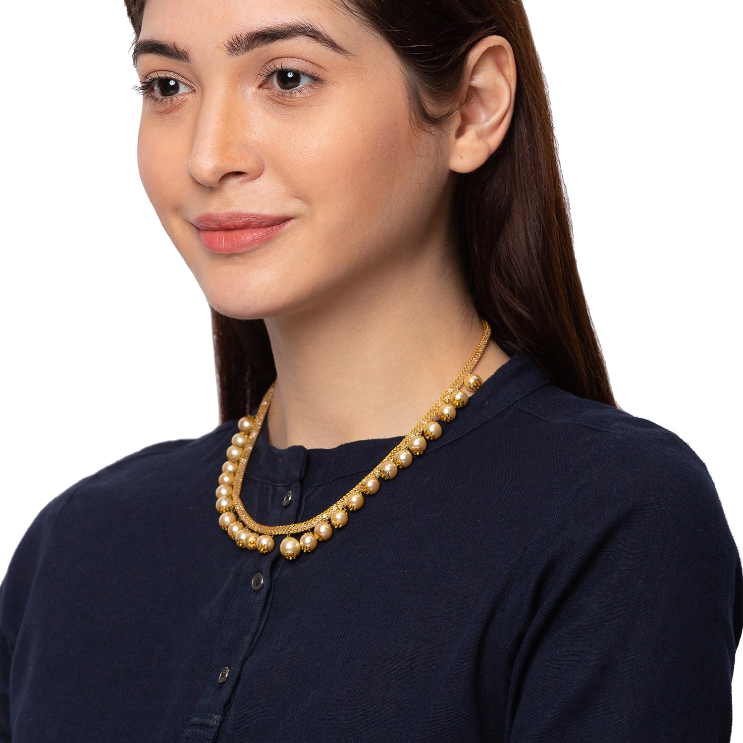Globus Gold Ethnic Necklace-3