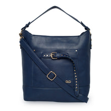 Load image into Gallery viewer, Globus Navy Hobo Bag-1