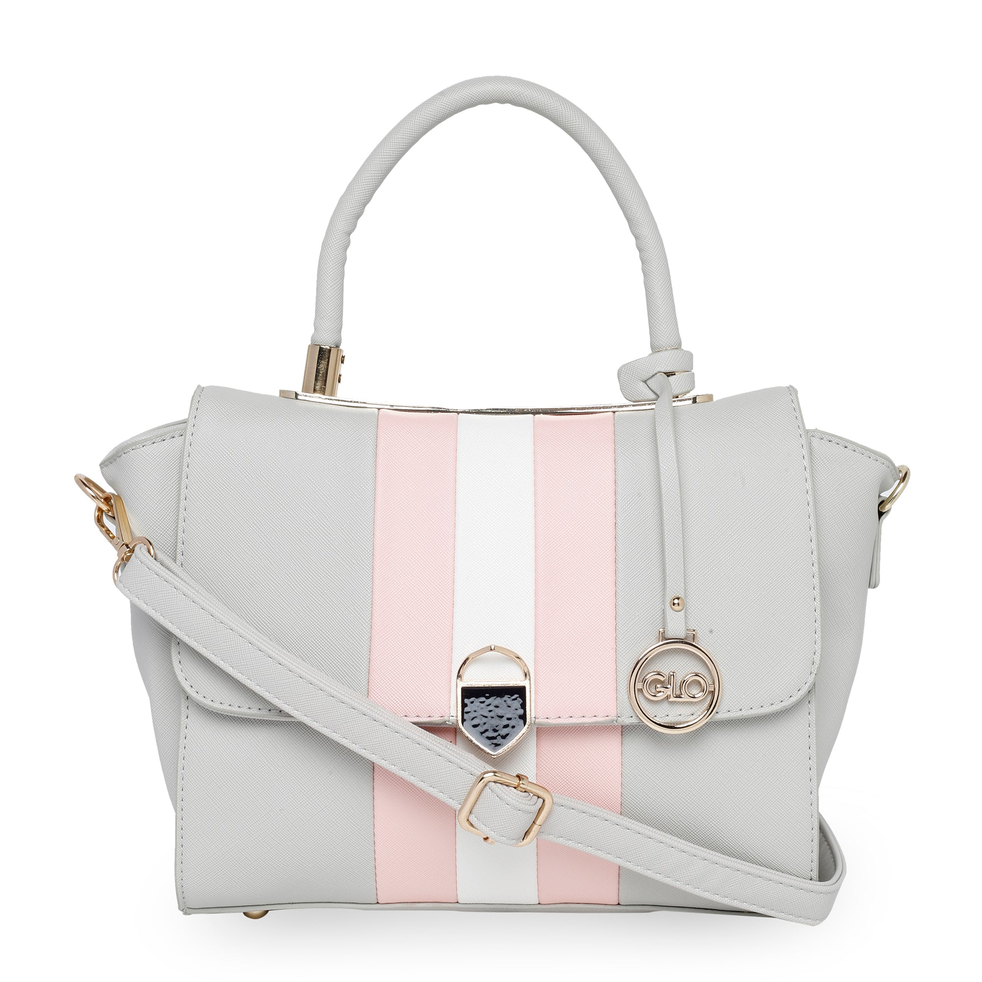 Globus Grey Nude & White Hand Bag-1