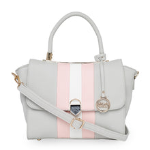Load image into Gallery viewer, Globus Grey Nude & White Hand Bag-1