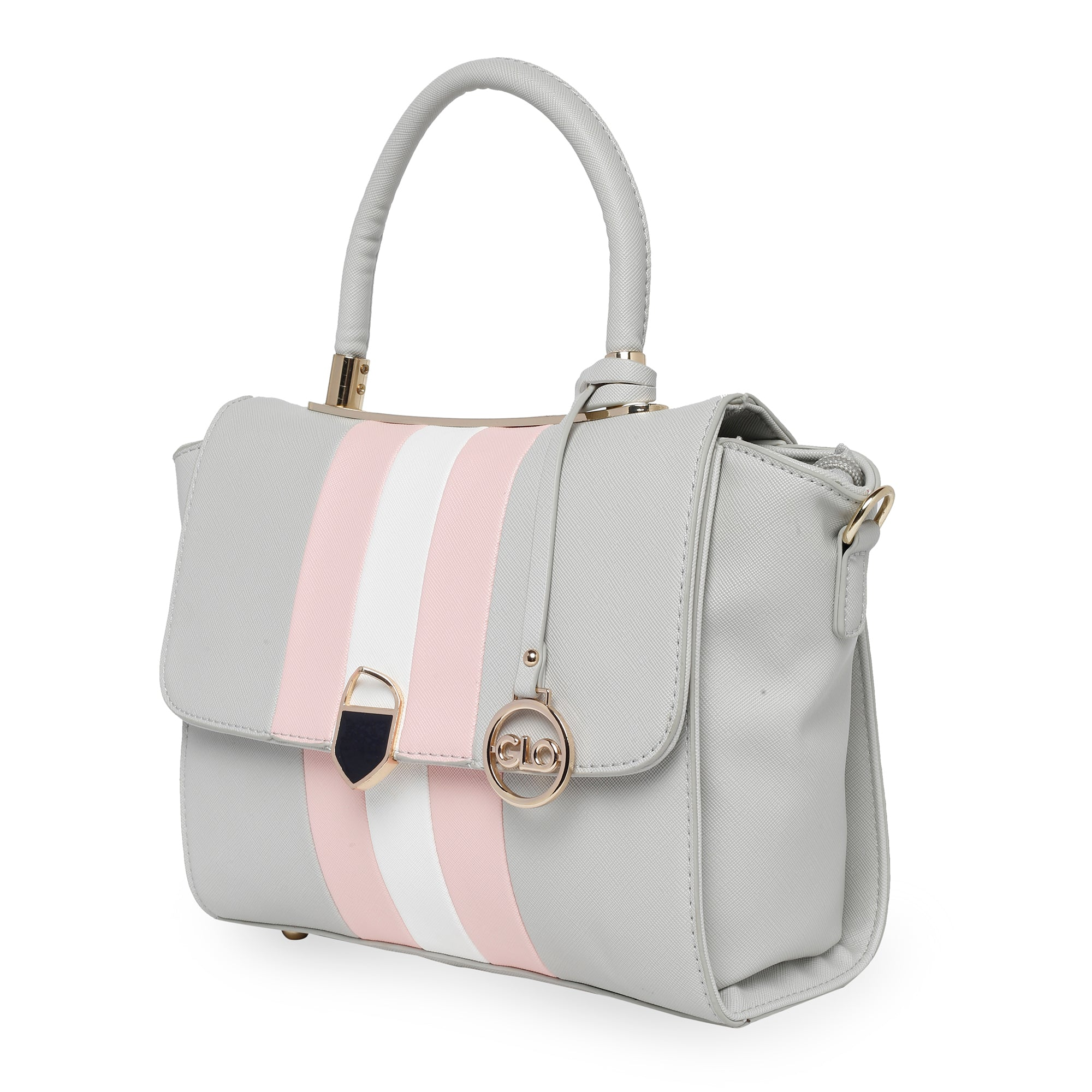 Globus Grey Nude & White Hand Bag-3