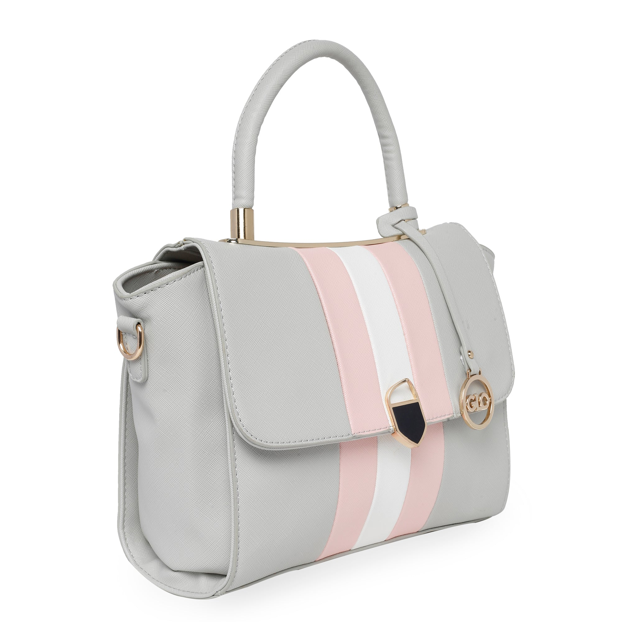 Globus Grey Nude & White Hand Bag-4