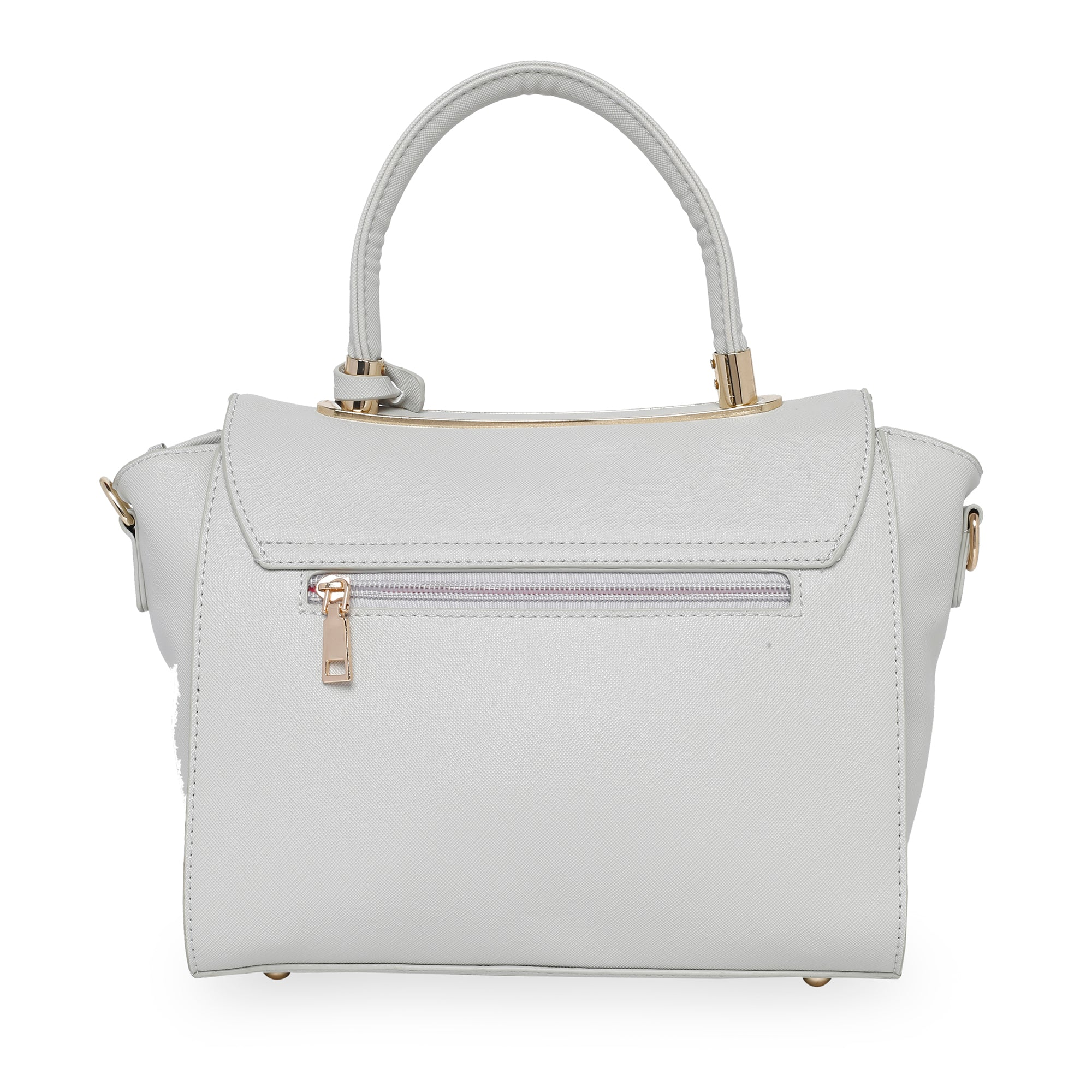 Globus Grey Nude & White Hand Bag-5