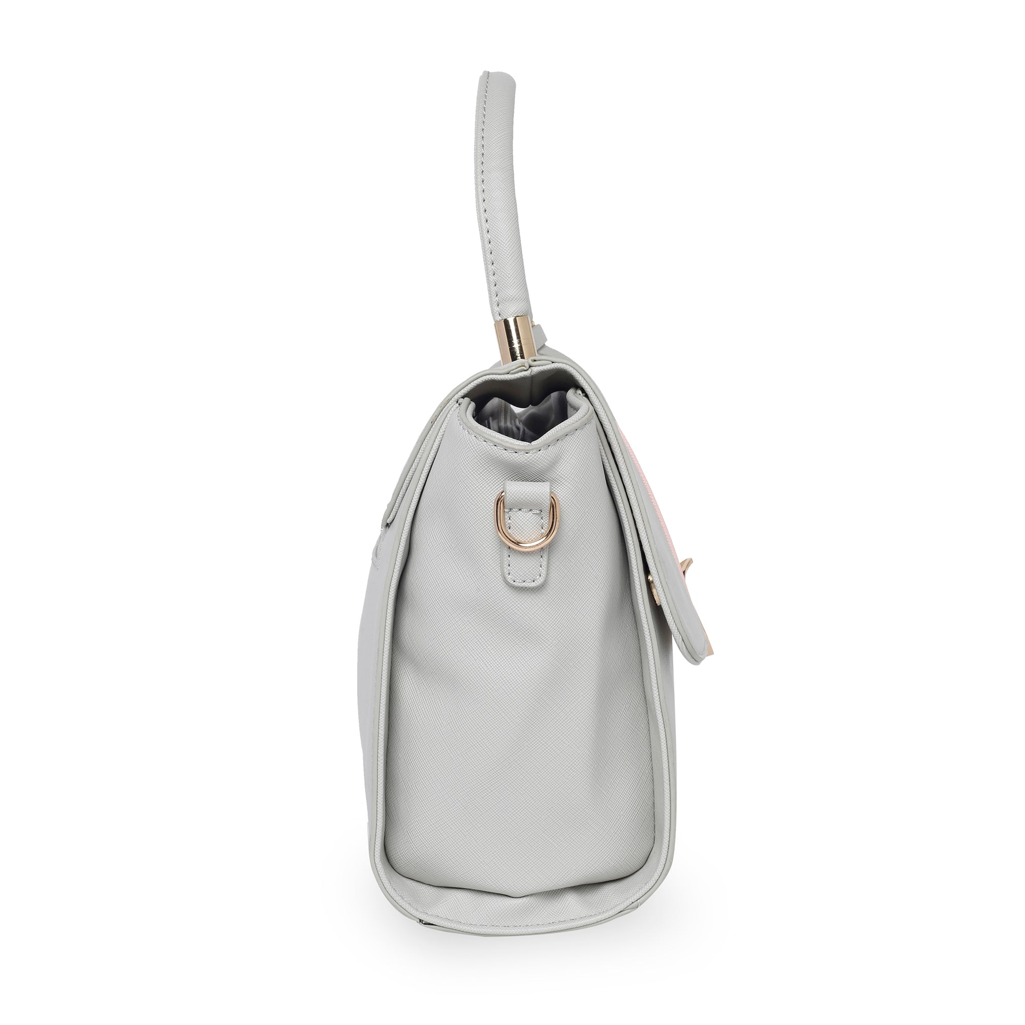 Globus Grey Nude & White Hand Bag-2