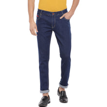 Load image into Gallery viewer, Blue Slim Fit Mid Rise Clean Look Jeans-1