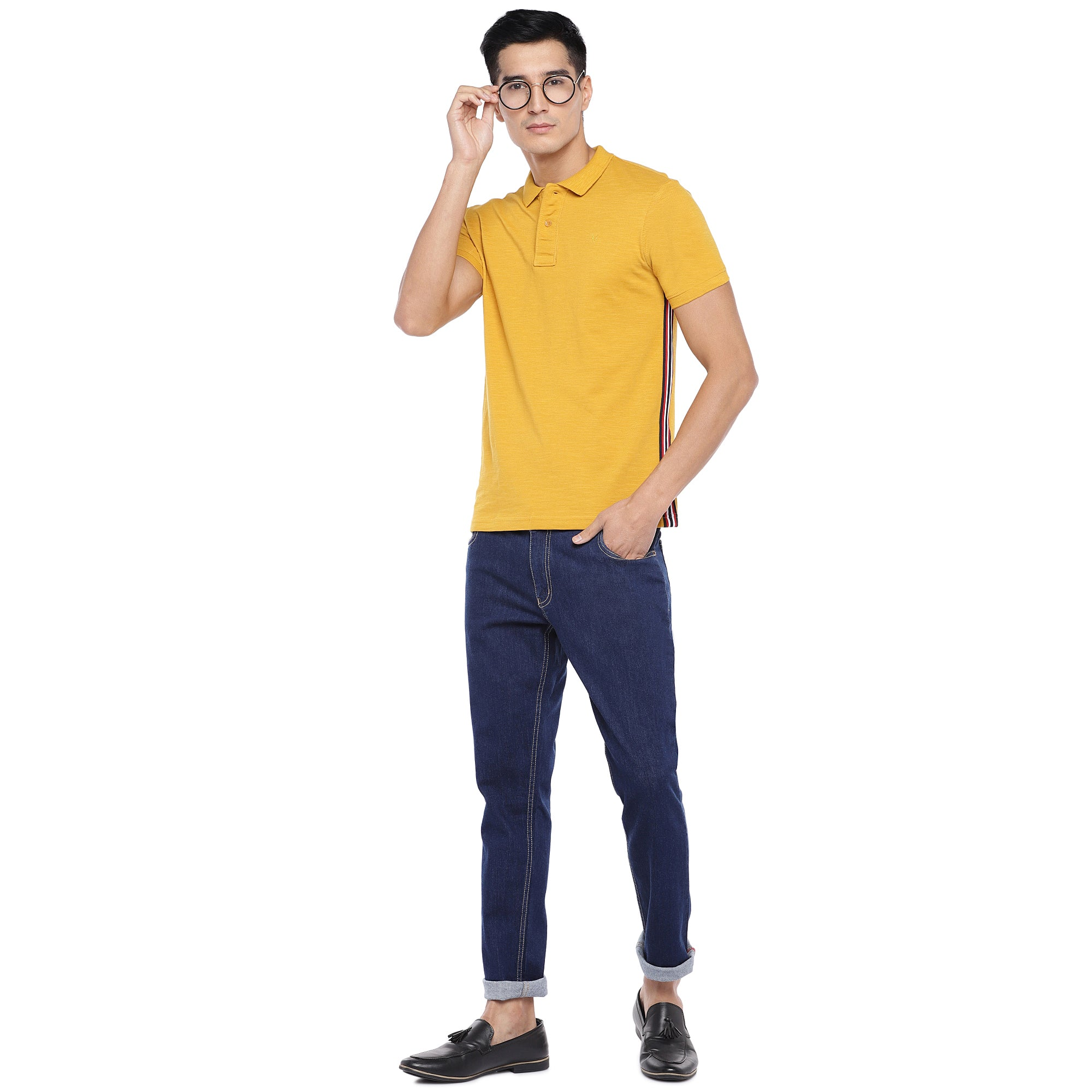 Blue Slim Fit Mid Rise Clean Look Jeans-4