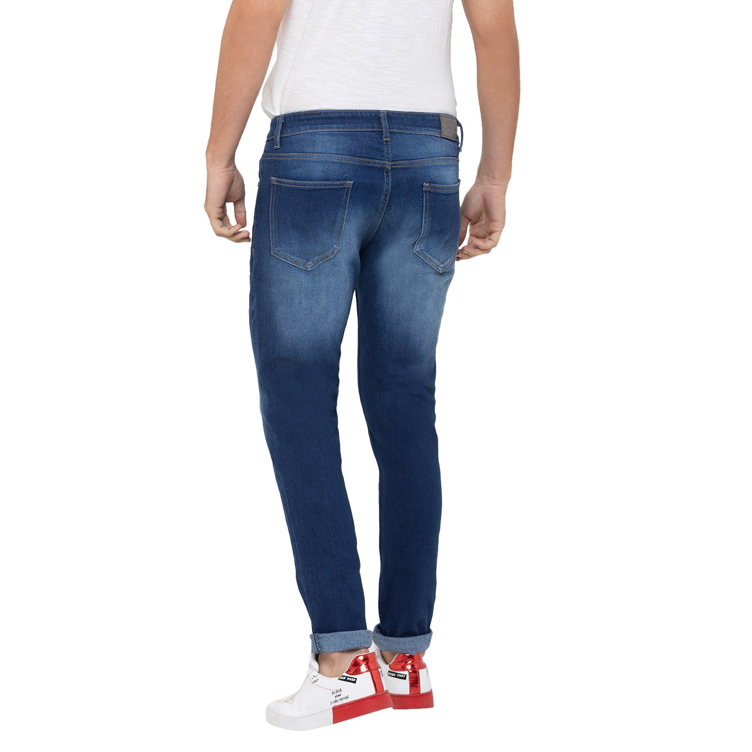Globus Blue Washed Clean Look Jeans-3