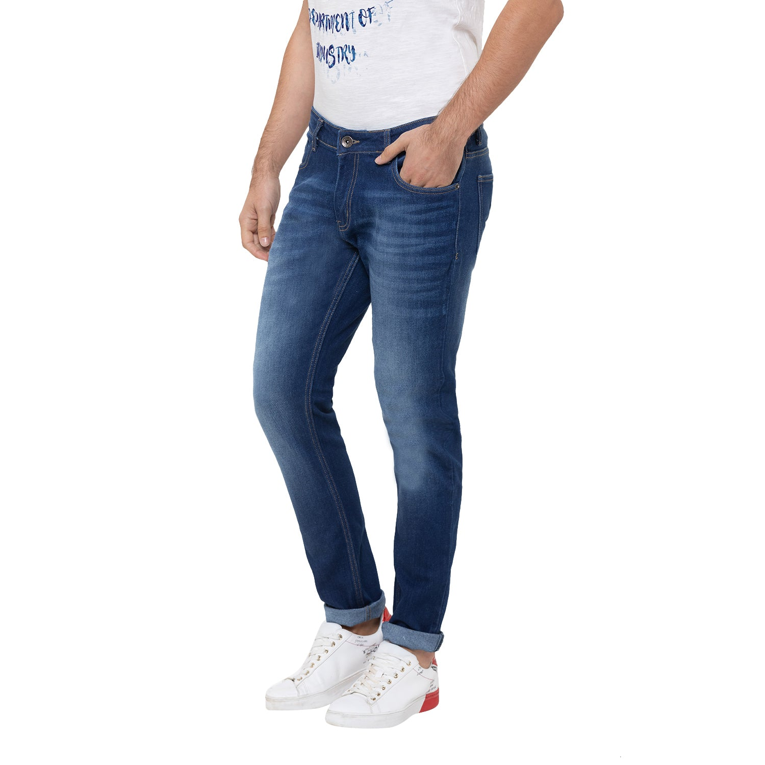 Globus Blue Washed Clean Look Jeans-4