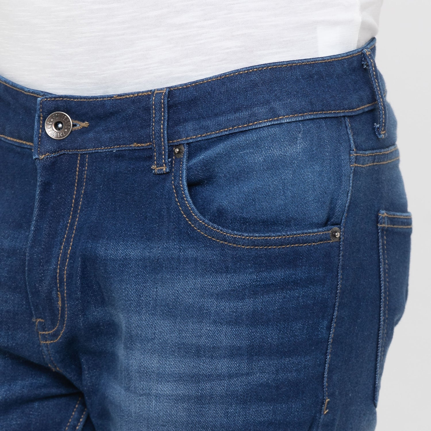 Globus Blue Washed Clean Look Jeans-5
