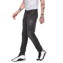 Load image into Gallery viewer, Faded Slim Fit Grey Denims-2