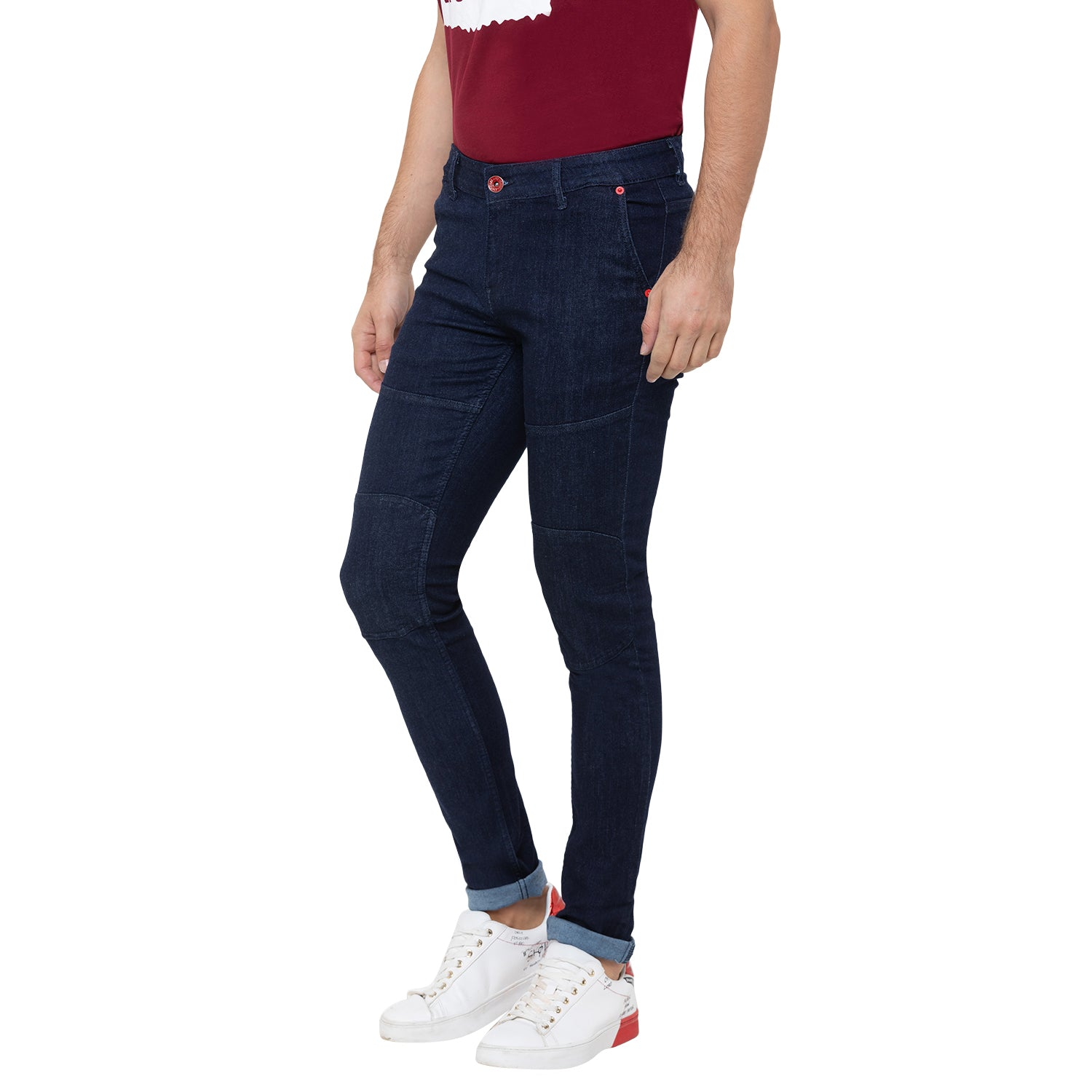 Globus Blue Solid Clean Look Jeans-4
