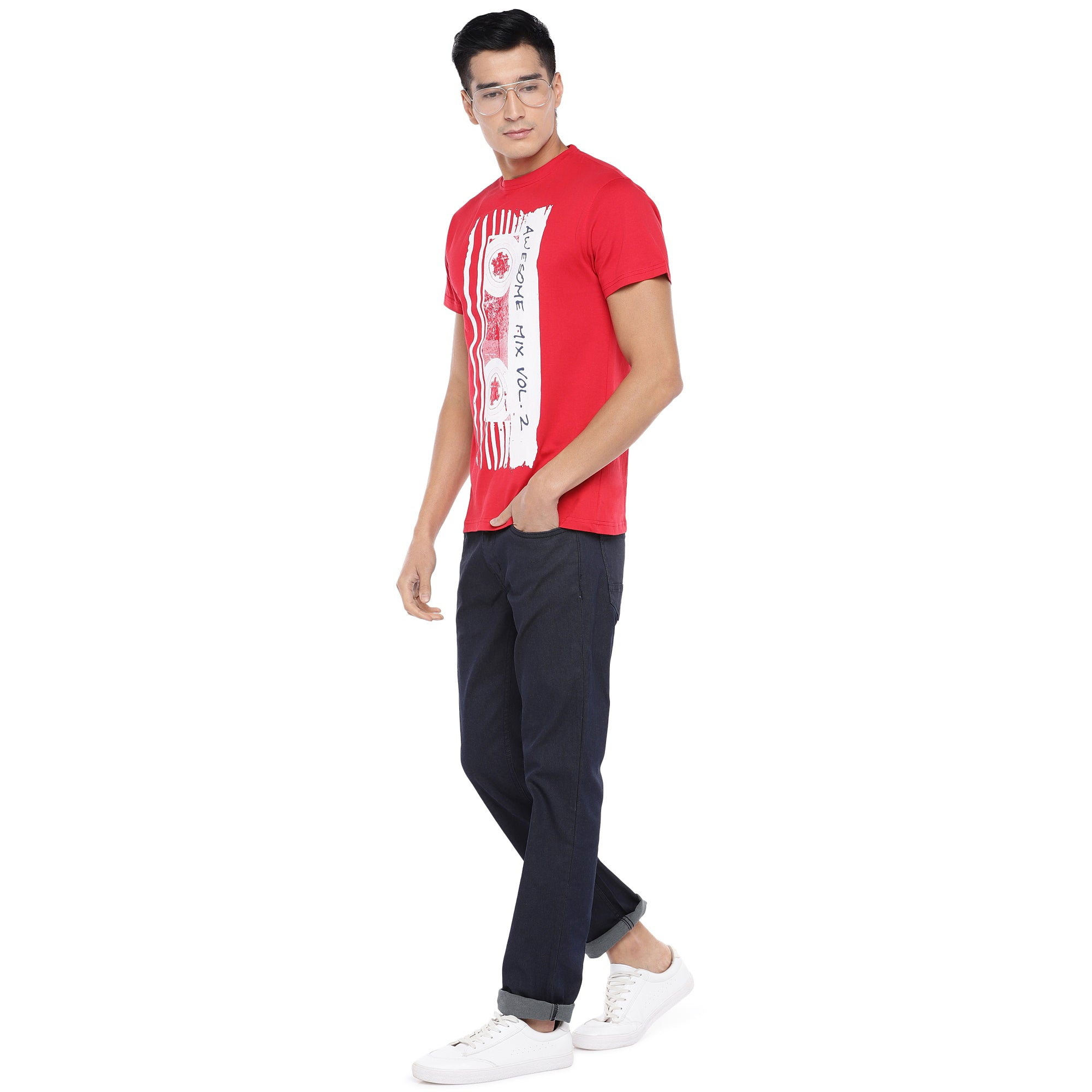 Grey Slim Fit Mid Rise Clean Look Jeans-4