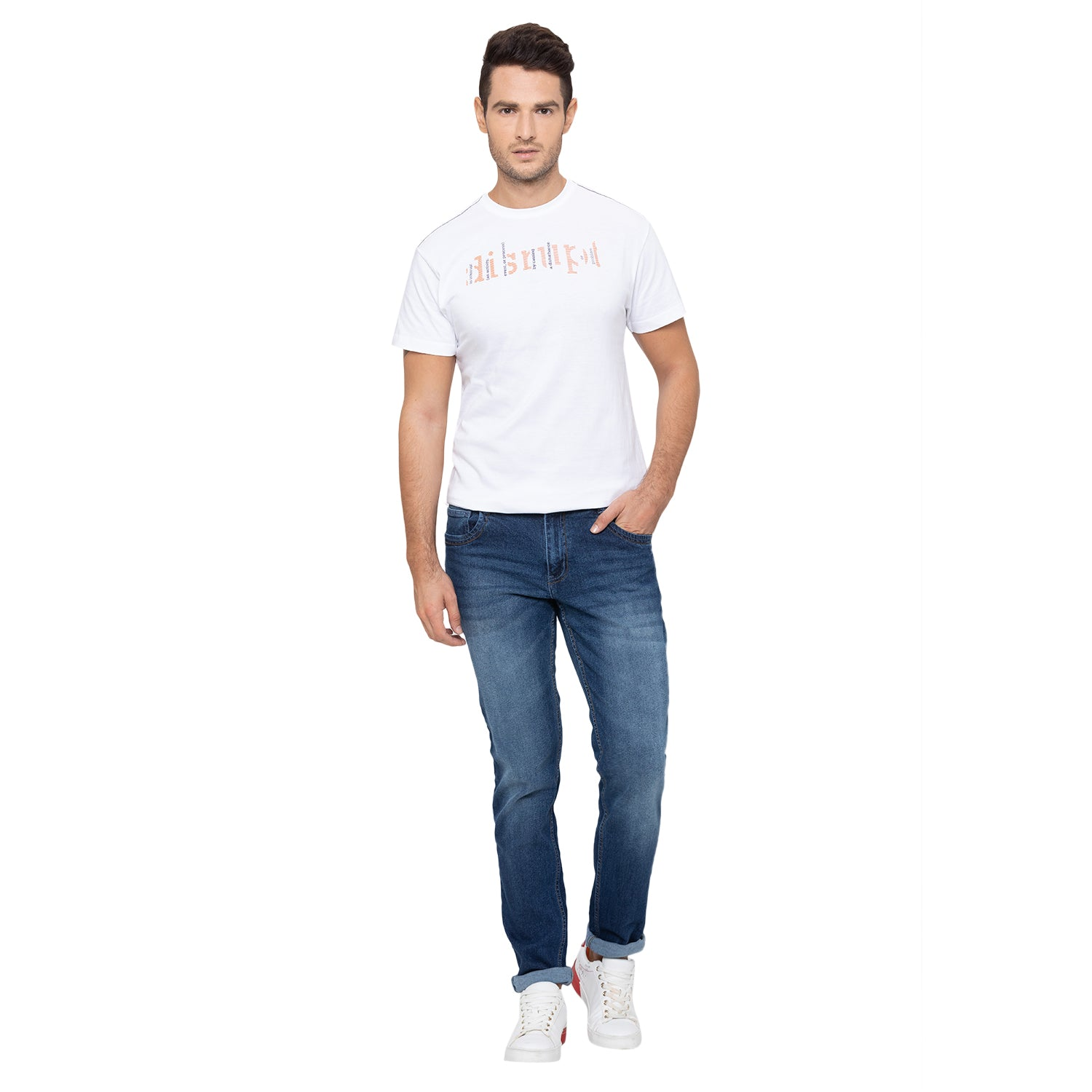 Globus Blue Washed Clean Look Jeans-2
