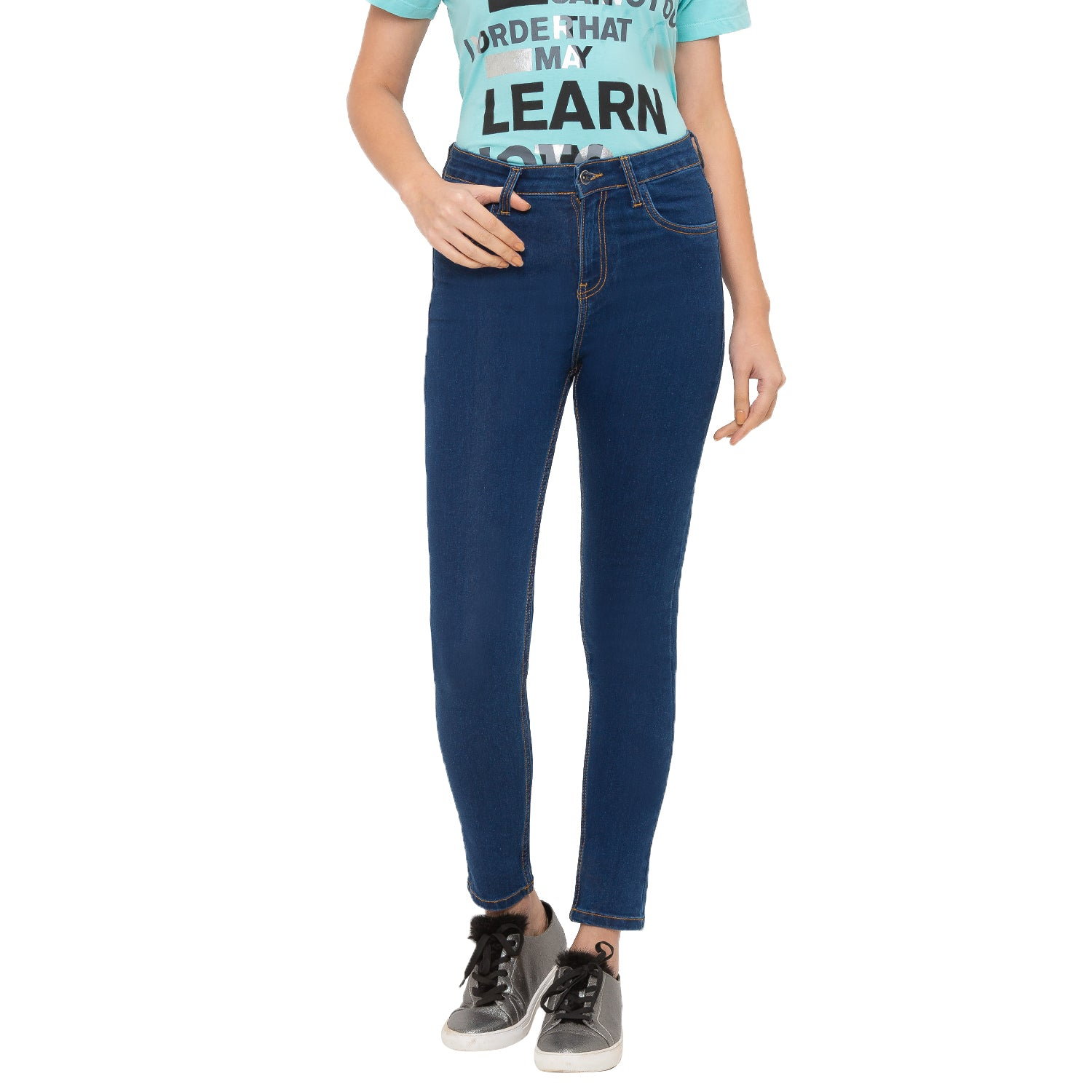 Globus Blue Solid Jeans-1