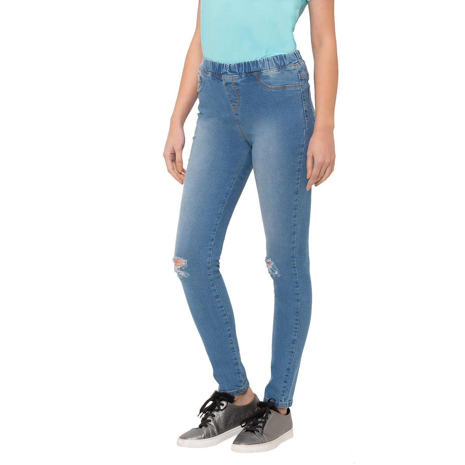 Globus Blue Ripped Jeans-2