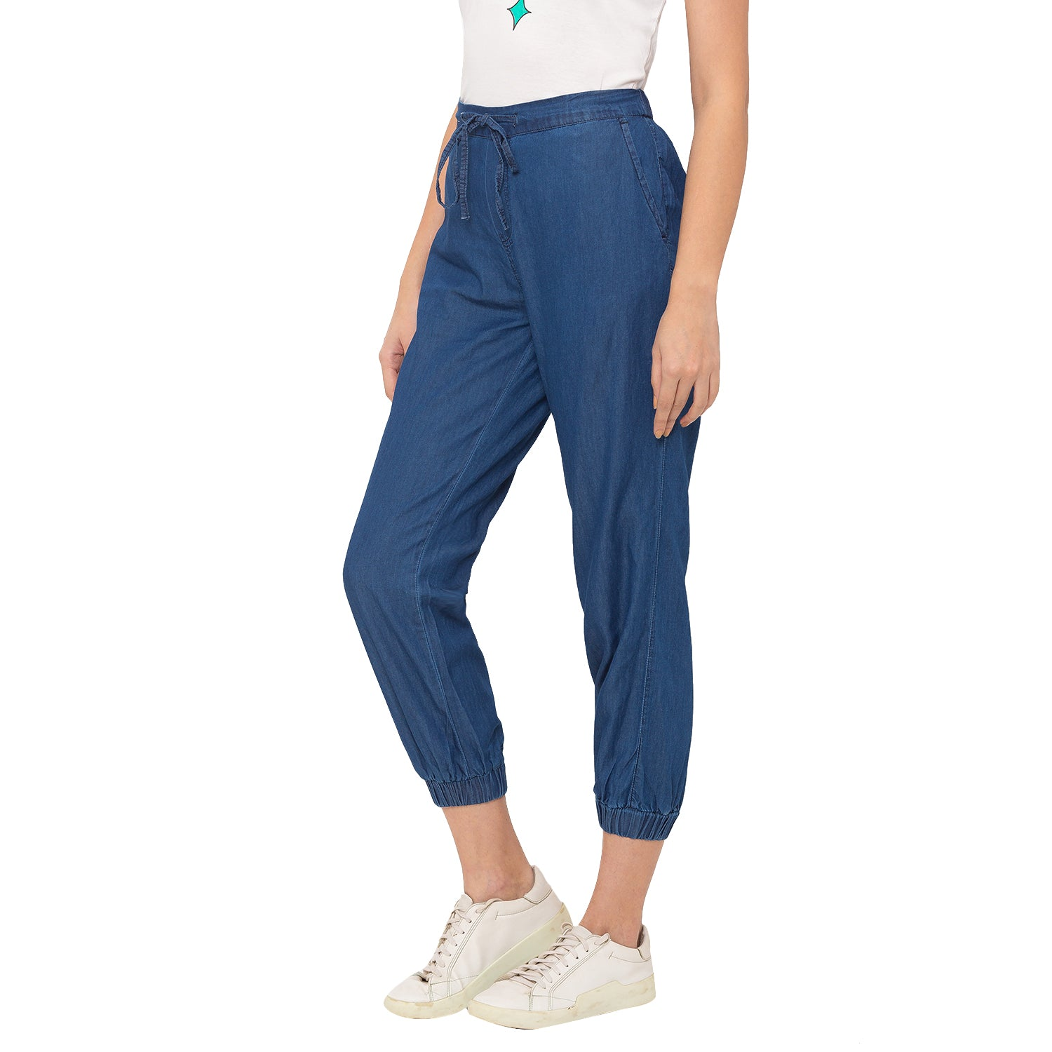 Globus Blue Solid Jeans-2