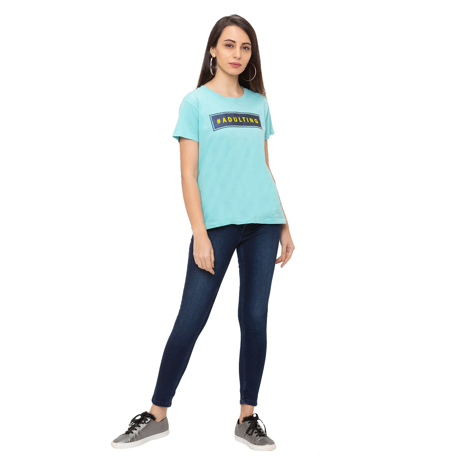 Globus Blue Solid Jeans-4