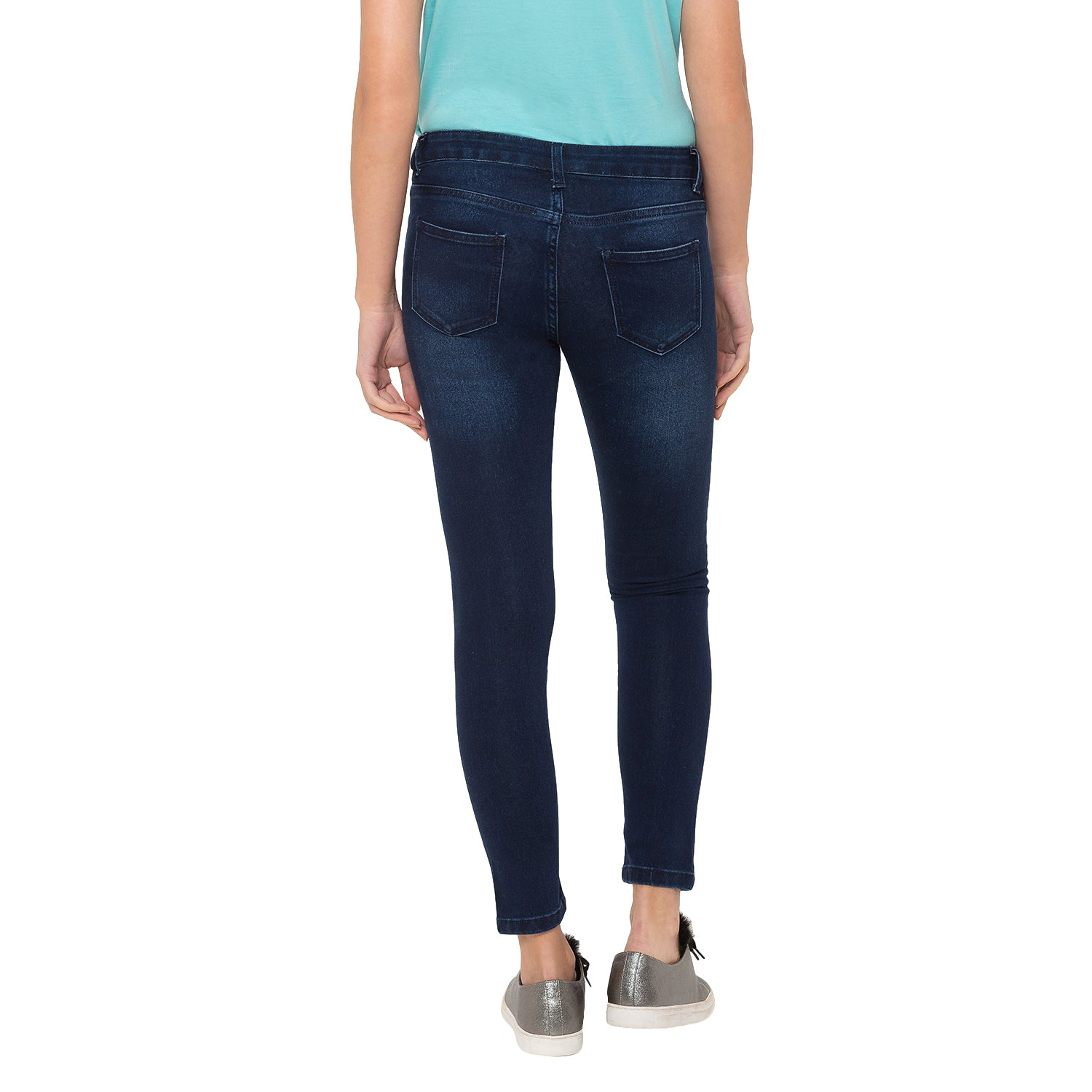 Globus Blue Solid Jeans-3