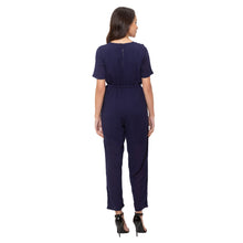 Load image into Gallery viewer, Globus Navy Blue Solid Jumpsuit-3