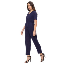 Load image into Gallery viewer, Globus Navy Blue Solid Jumpsuit-2