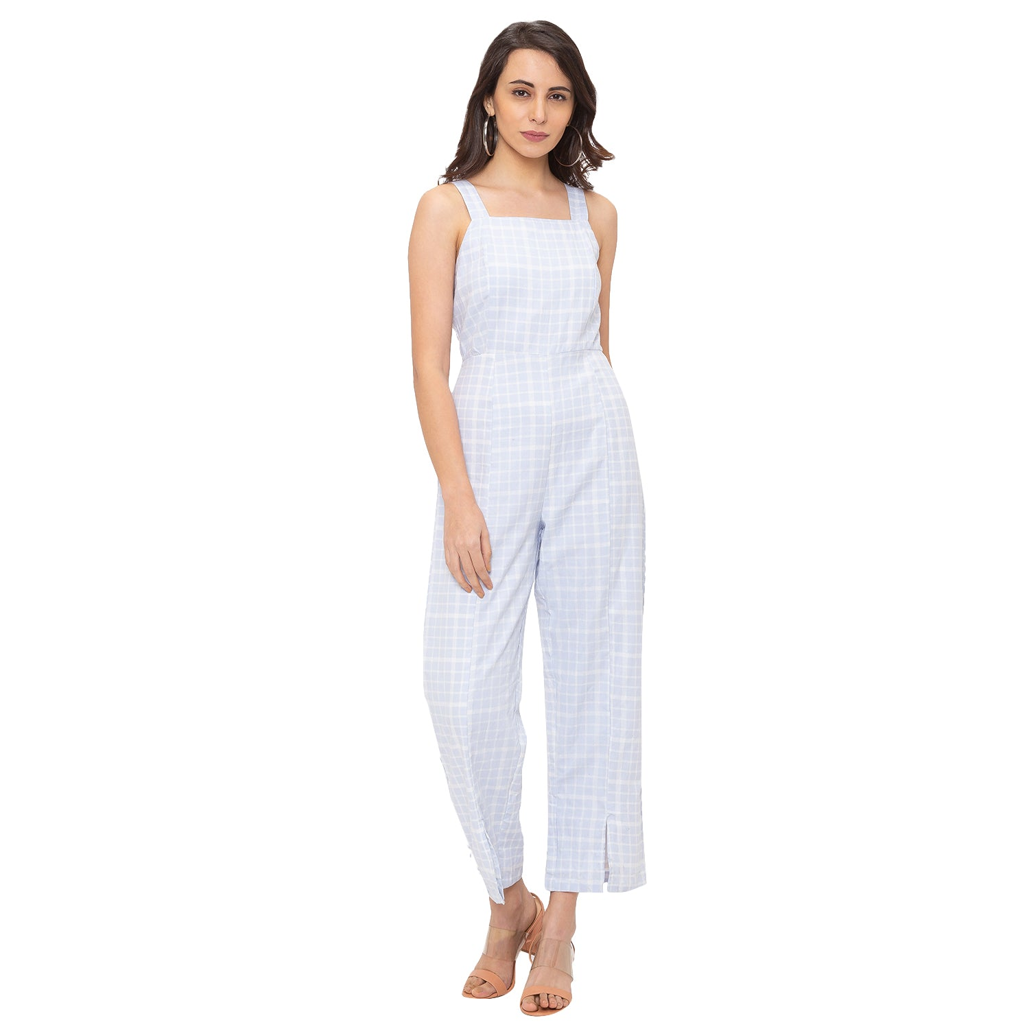 Globus Blue Checked Jumpsuit-1