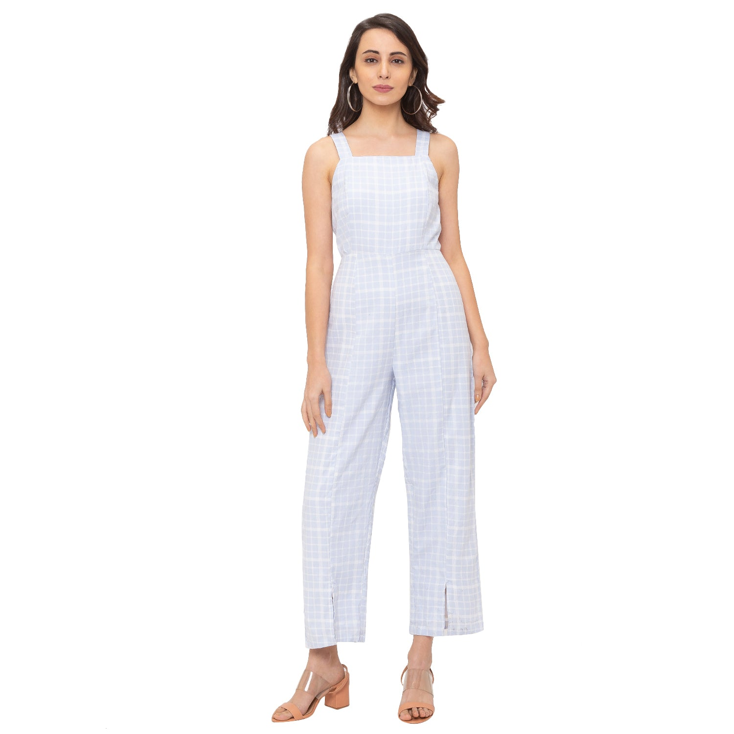 Globus Blue Checked Jumpsuit-4