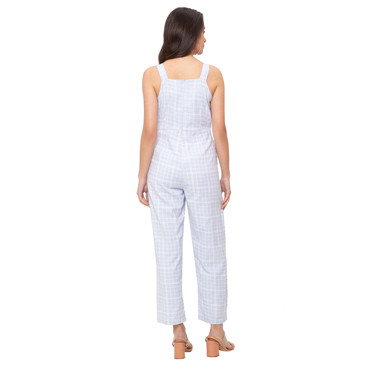 Globus Blue Checked Jumpsuit-3