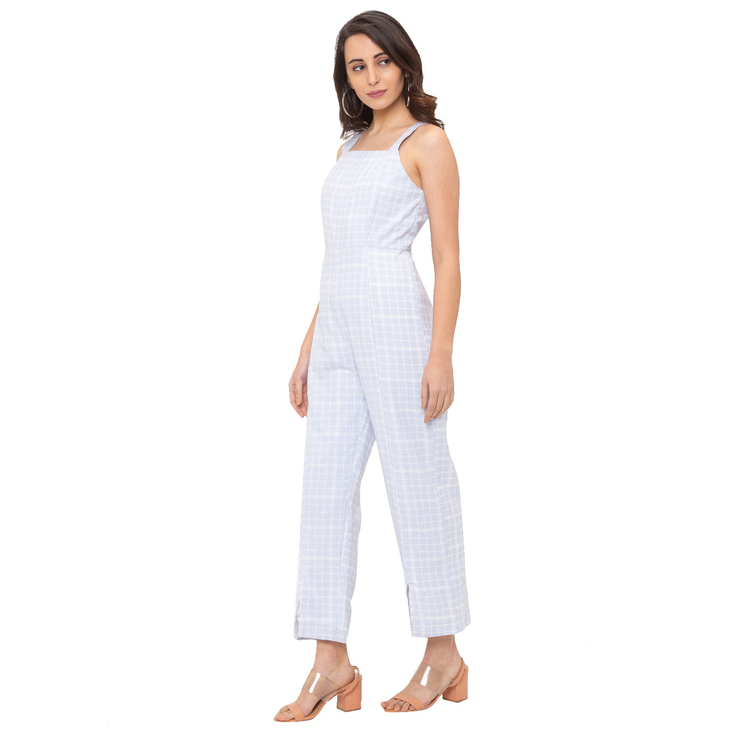 Globus Blue Checked Jumpsuit-2