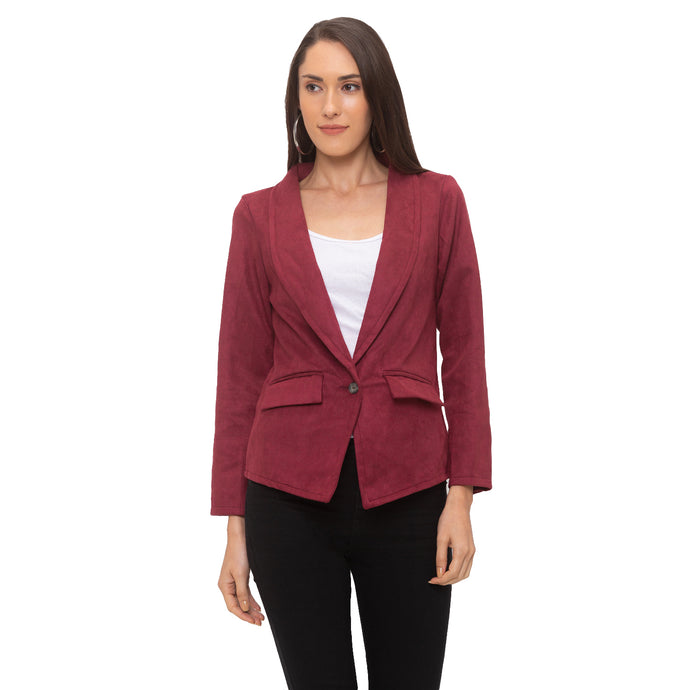Globus Burgundy Solid Jacket-1