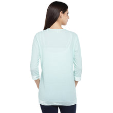 Load image into Gallery viewer, Sea Green Striped Open Front Shrug-3