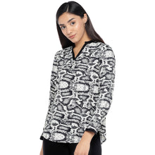 Load image into Gallery viewer, Black & Grey Printed Top-1