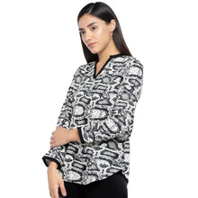 Load image into Gallery viewer, Black & Grey Printed Top-2