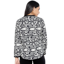 Load image into Gallery viewer, Black & Grey Printed Top-3