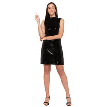 Load image into Gallery viewer, Black Embellished Dress-1