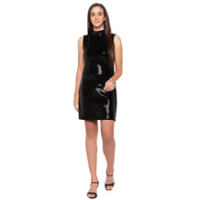 Load image into Gallery viewer, Black Embellished Dress-4